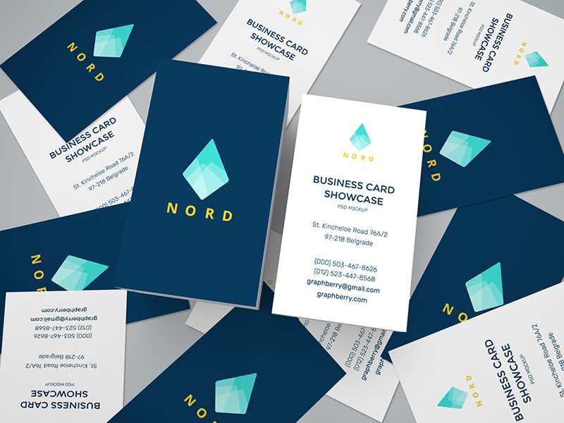 Business Cards Mockup cards identity presentation smart object free psd mockup business card