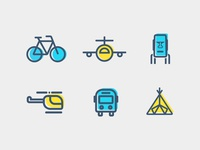 6 Vector Travel Icons