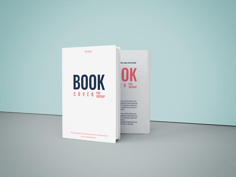Free Book Cover PSD Mockup freebie free print ebub magazine smart object psd cover mockup book