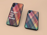 iPhone X PSD Case Mockup