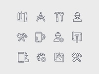 Vector Work Icons Set