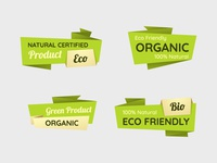 Free Vector Eco Labels