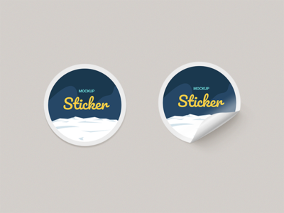Round Paper Stickers Mock-up branding logo badge rounded sticker free download download psd freebie mockup psd sticker mockup mockup