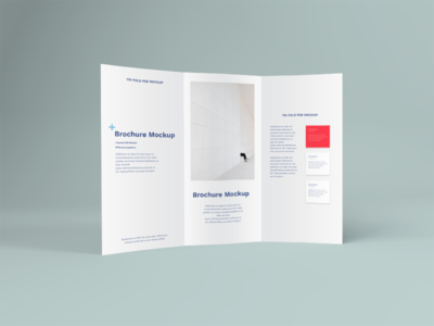 Standing  Brochure PSD Mockup branding smart object psd free psd free download leaflet flyer brochure mockup tri fold brochure