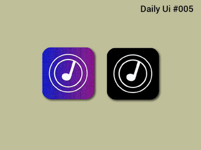 App Icon l Daily Ui #005