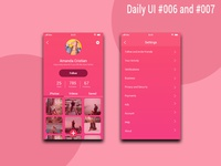 User Profile And Settings l Daily Ui #006 #007
