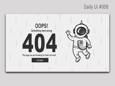 404 design l Daily Ui #008