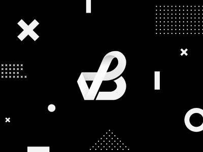 Vladislav Bushuev — Branding black dark mobius monogram typography vector illustration design logo design logo