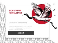 Sign Up Modal Popup in Japanese style