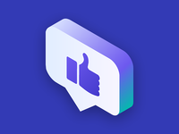 Isometric Approval Icon