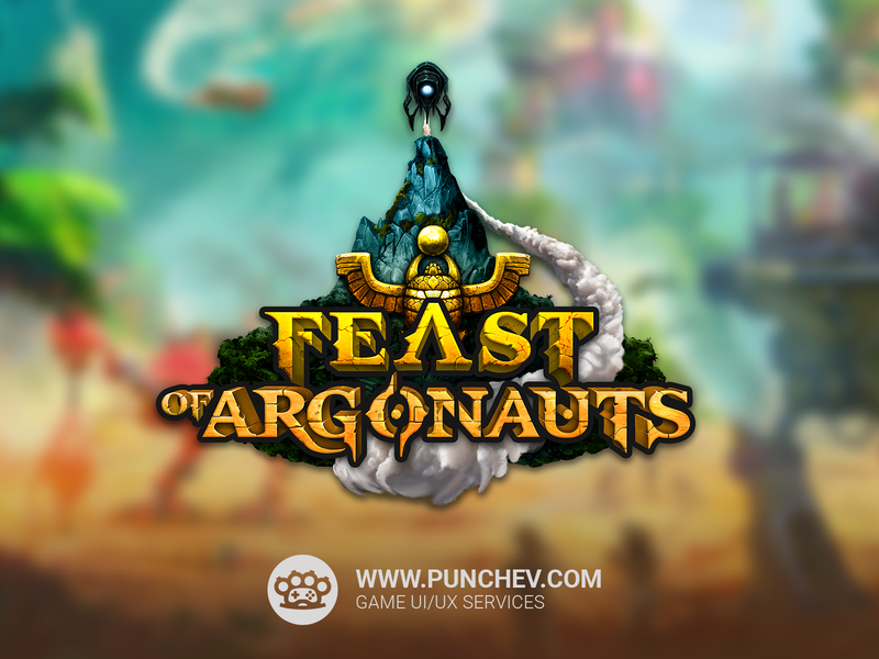 Feast Of Argonauts Logo graphic design game art typogaphy sketches digital painting digital art illustration game logo logo