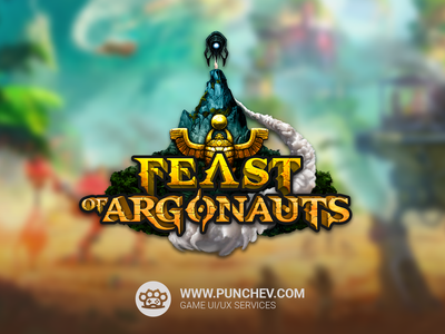 Feast Of Argonauts Logo graphic design game art typogaphy sketches digital painting digital art illustration game logo logo