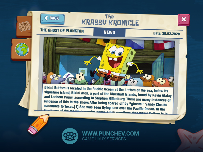 SpongeBob: Krusty Cook-Off design ux ui studiopunchev tiltingpoint nickelodeon squidward spongebob squarepants