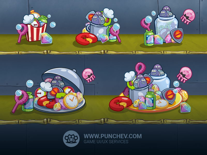 SpongeBob: Krusty Cook-Off, Bundles spongebob squarepants spongebob mobilegame studio punchev bundles design game illustration punchev icons ux gui ui