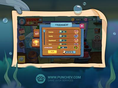 SpongeBob: Krusty Cook-Off spongebob squarepants user experience user inteface popup gameart mobilegame studiopunchev illustration game ux gui ui
