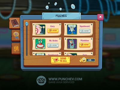 SpongeBob: Krusty Cook-Off studiopunchev ui interface game gui ux illustration punchev design