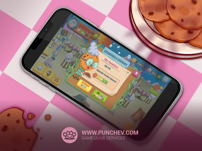 SpongeBob: Krusty Cook-Off design studiopunchev game ux gui interface icons ui