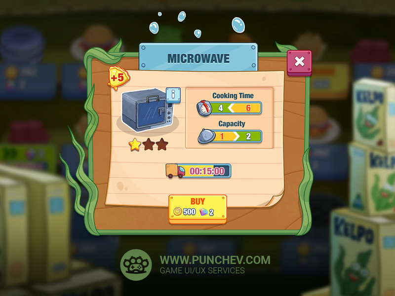 SpongeBob: Krusty Cook-Off mobile design studiopunchev game illustration ux gui ui