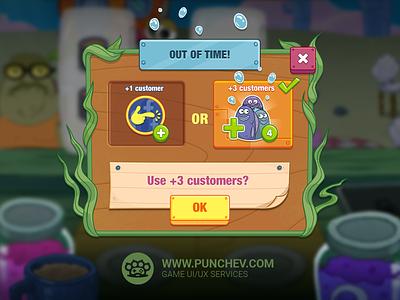 SpongeBob: Krusty Cook-Off design mobile game interface studiopunchev illustration ux gui ui