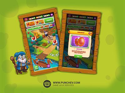 Dragon Idle_1 punchev ui branding game ux gui interface