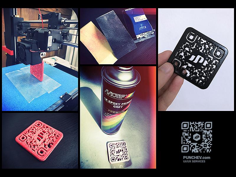 Qr Code 3D Print Business Card by STUDIO PUNCHEV LLC on Dribbble