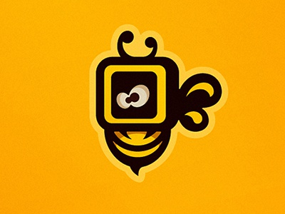 Vbee logo identity brand bee logotype branding visuals design vertex abstract vector sign yellow studio sergey sergey punchev graphic design art