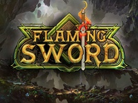 Flaming Sword Game Logo Design