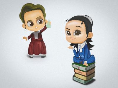 Little Marie Curie & Maria Montessori Illustrations