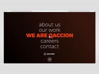 Qaccion Website Home/Menu