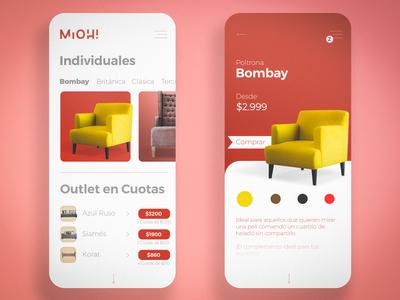 Mioh! App Proposal Screens