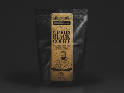 Charles Black Coffee Label Design