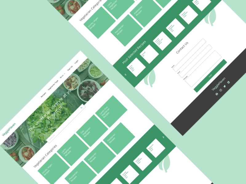 VeggieHaven casestudy ux vegetarian lifestyle design ui