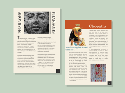 Egyptian Theme Grid Layout design typography