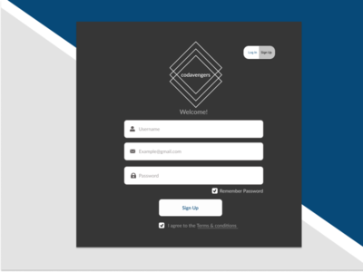 Codavengers Sign Up Page