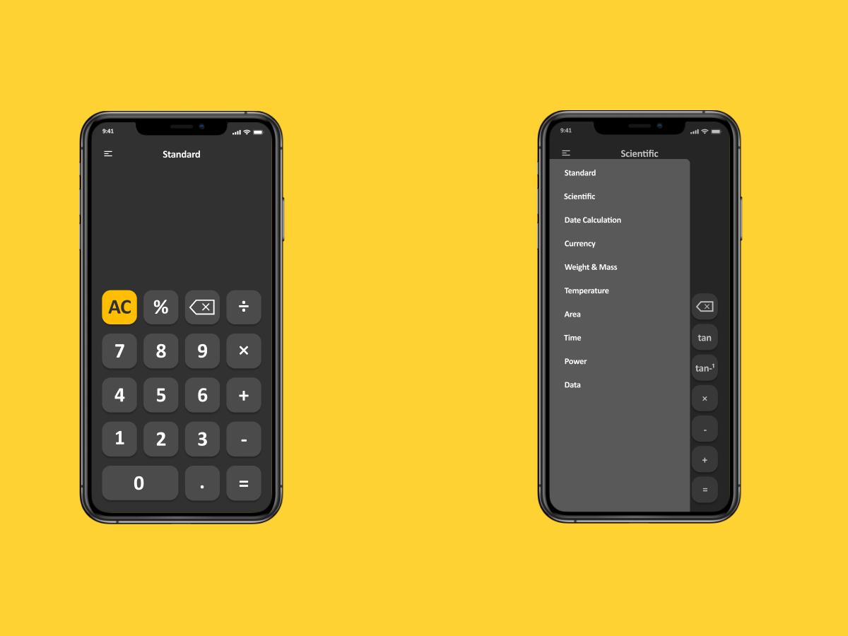 iOS Calculator App | Daily UI 4 ios calculator ui design ux ui calculator app