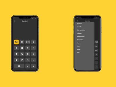 iOS Calculator App | Daily UI 4