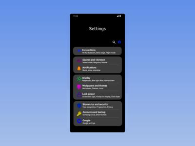Settings | Daily UI 7