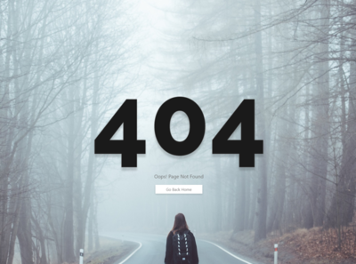 404 Page | Daily UI 8