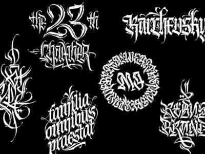 Gothic calligraphy 17-19'