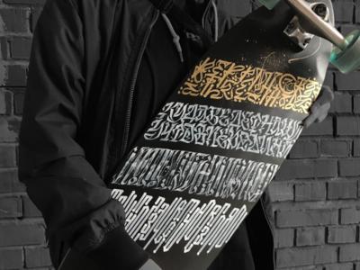 Calligraphy skateboard collaboration