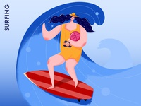 surf on the Dribbble