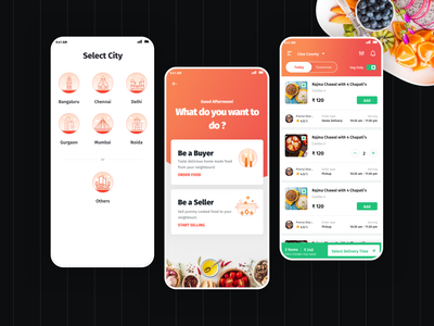 Food App Exploration user experience food app ui homemade food food combo food  drink chef app food app ui android app