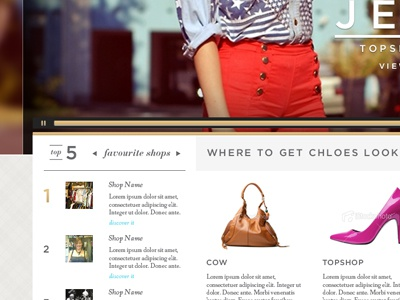 Get The Look shopping fashion look book