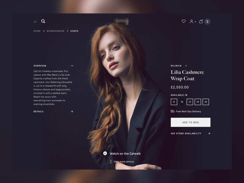 PDP exploration design ux fashion clothes shop ui web ecommerce shopping pdp