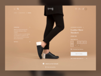 Shoes web  design ui web design fashion web shopping product pdp retail ecommerce shop ux ui