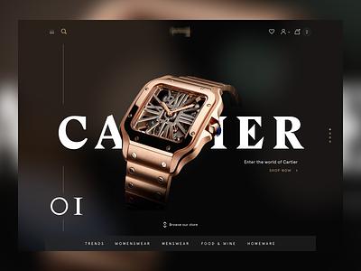 Brand Page Header landing page app website design ux shop design fashion luxury ecommerce retail web ui shop