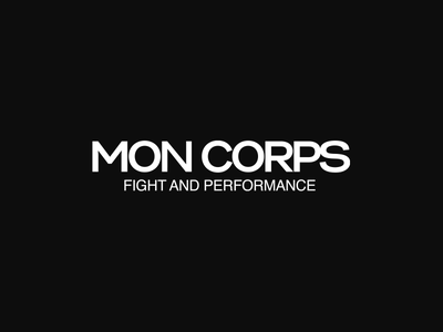 Mon Corps design logo boxing kickbox performance fight gym corps mon