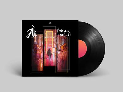 Ai Mix Cover design soundcloud illustrator edm album cover design album artwork album art