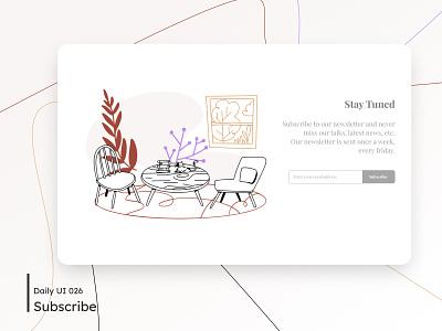 Daily UI - Subscribe illustration talks landingpage newsletter subscribe white flat design desktop ui dailyuichallenge minimal clean daily 100 challenge 026 dailyui
