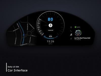 Daily UI - Car Interface 034 dailyui